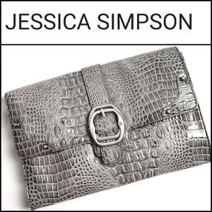 JESSICA SIMPSON Crocodile Print Clutch Purse!